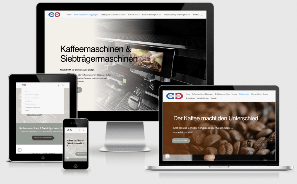 Webseiten Göppingen - Text-Art - Kaffeemaschinen Göppingen