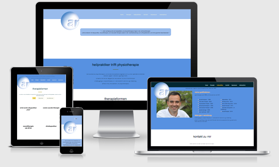 Heilpraktiker Reina - Webdesign, Werbetexte, Print, Text-Art Göppingen