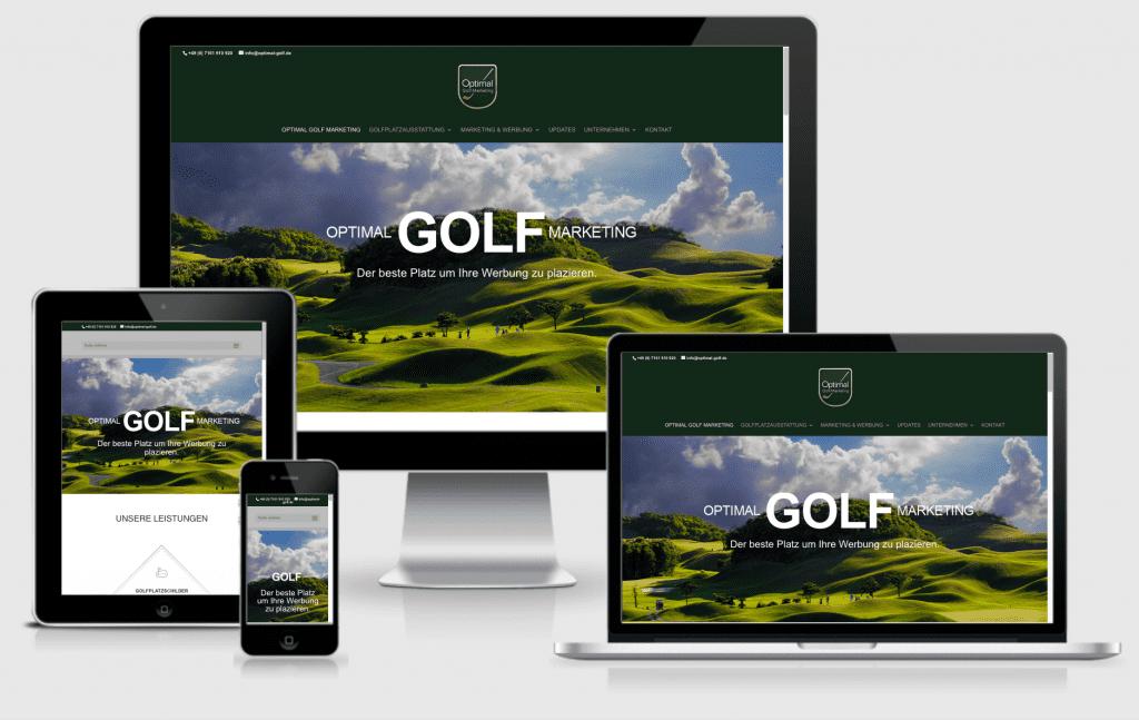 Optimal Golf Marketing - Webdesign, CMS, Werbetexte - Text-Art Göppingen