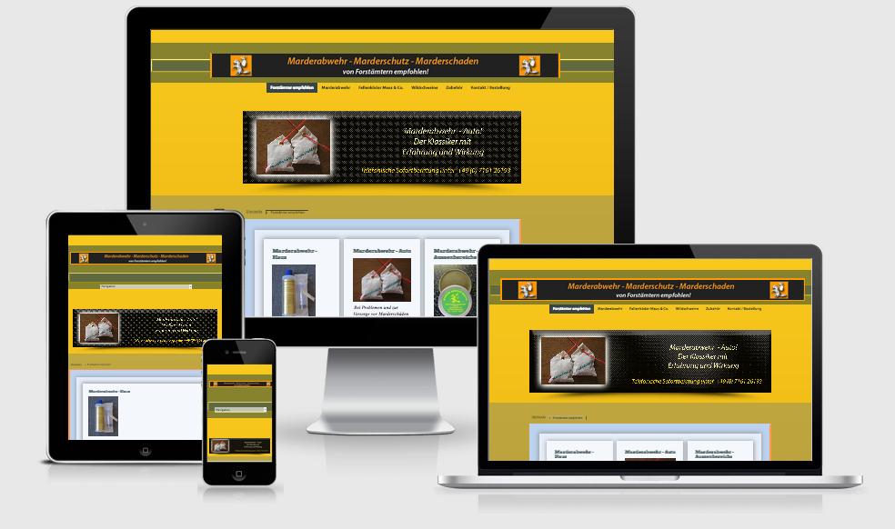 Marderabwehr-Sicher - Webdesign Text-Art Göppingen