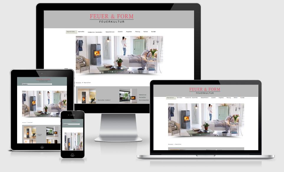 Feuer & Form GmbH - Webdesing, Content Management, Betreuung, Werbetexte - Text-Art Göppingen