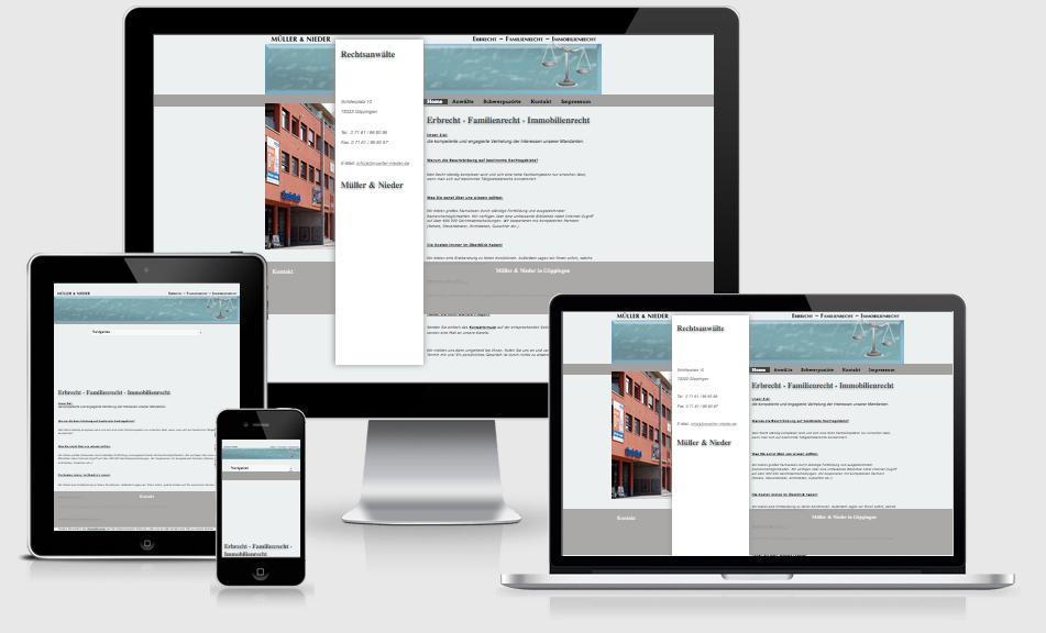 RA Müller & Nieder - Webdesign - Text-Art Göppingen