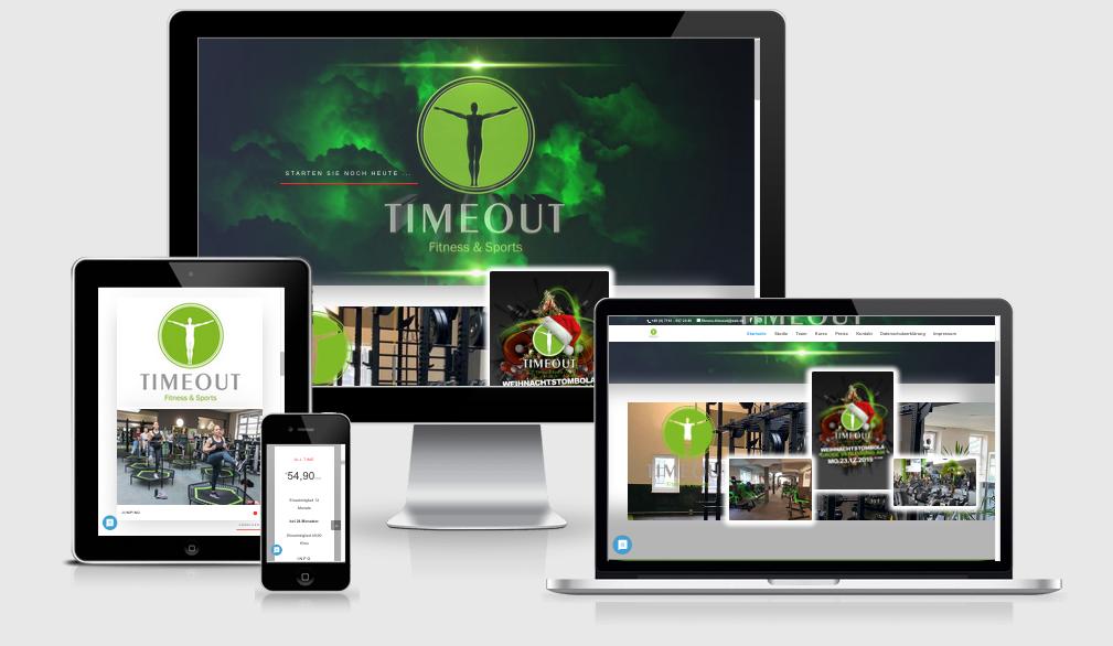 KBA TIMEOUT GmbH Sportstudio - Webdesign, Content Management - Text-Art Göppingen